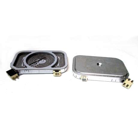 Heating element with roasting zone square design - 240 mm - 2000W