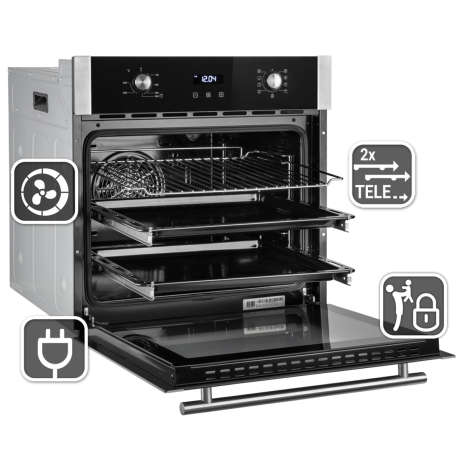 hob oven bundle built-in oven Air convection Dual-and roasting zone timer slider
