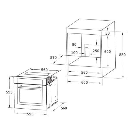 Hervorragend Backofen EB8015W weiß mit Grill- und Bratfunktion, 449,99 € JL55