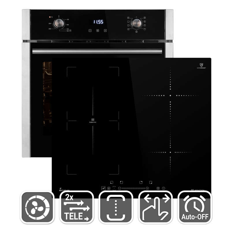 backofen mit induktion awesome bosch hbdps backofen kochfeld kombination und getrenntsen mit. Black Bedroom Furniture Sets. Home Design Ideas