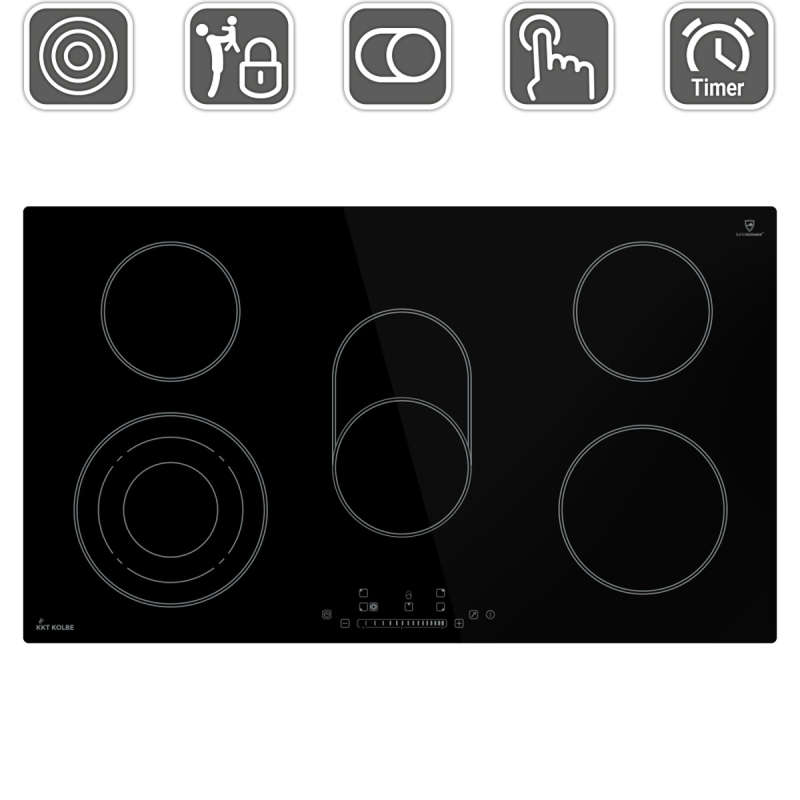 Glas-Ceramic Hob 90cm three times cooking zone roasting...