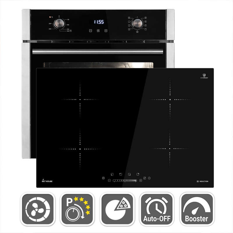 hob oven bundle built-in oven Air convection Induction...