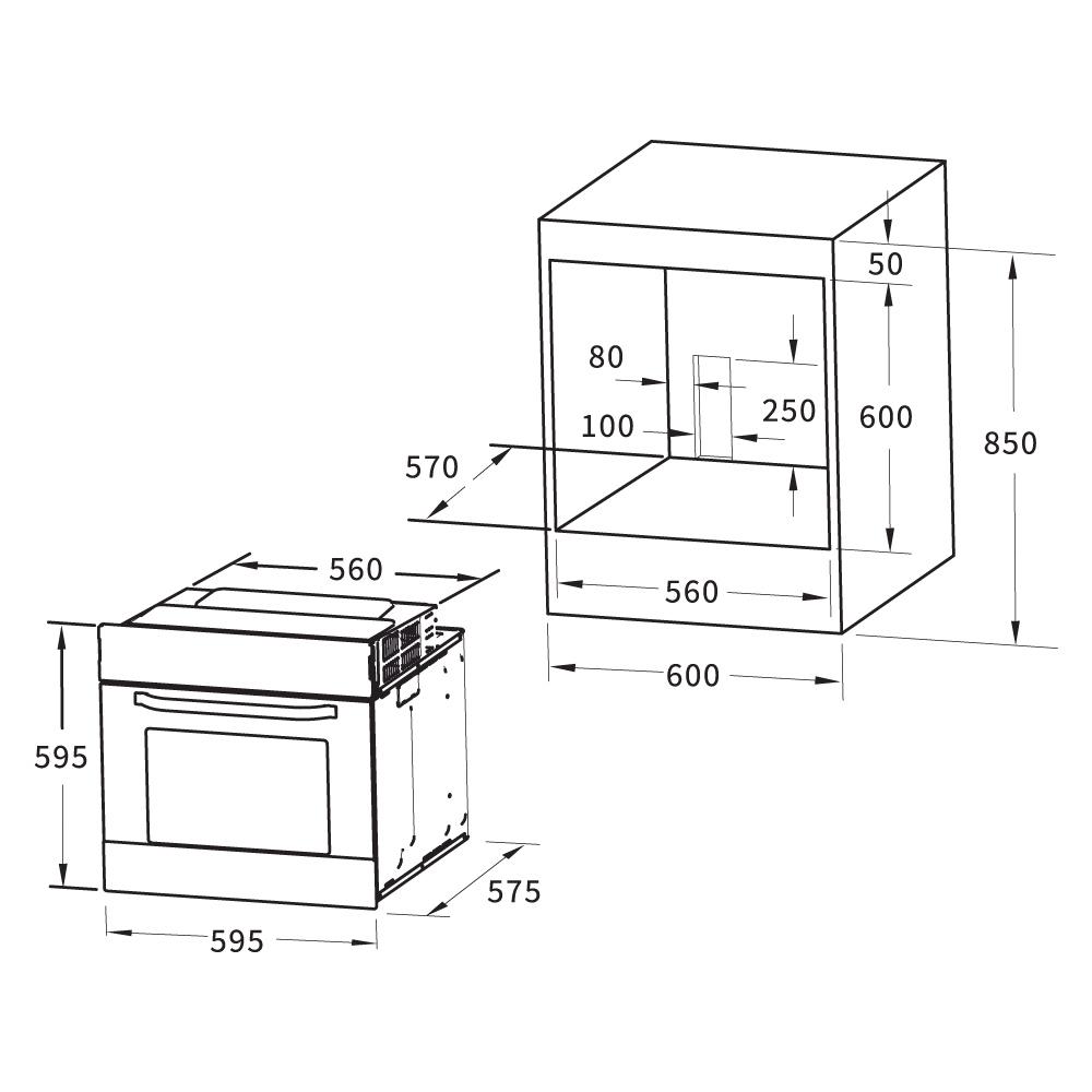backofen eb8015w wei mit grill und bratfunktion 439 00. Black Bedroom Furniture Sets. Home Design Ideas
